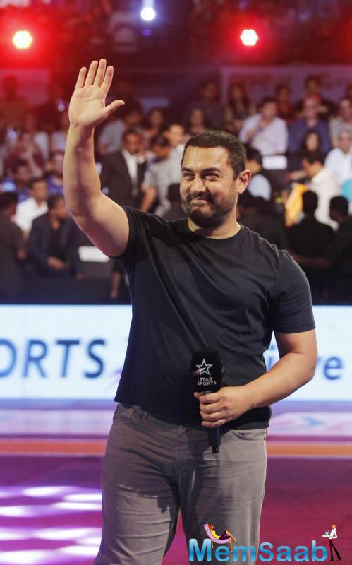 Aamir Khan will be singing the National Anthem LIVE on Jan 30, for the ProKabaddi Season 3 opener. Don't miss it!""
