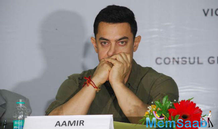 """Bollywood actor Aamir Khan on Monday said that """"I love my country, I was born here and I will die here. I have never thought of leaving India and will never take such a step,"""""""