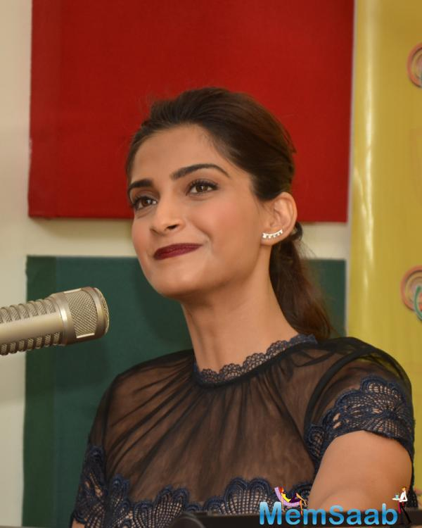 Sonam shared her experiences during the film's shoot at 98.3 FM