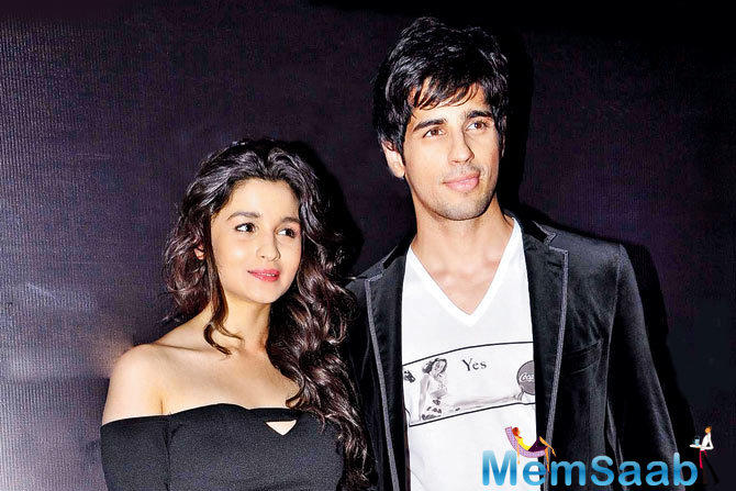 At an event Sidharth added, 'living in with Alia Bhatt', its not true, Alia Bhatt and me are only sharing a movie and not a house