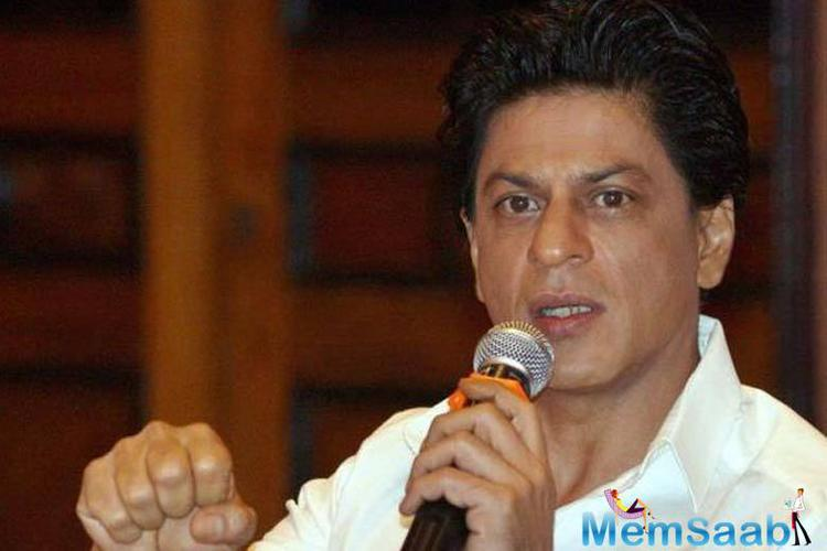 Shah Rukh Khan chose not to speak on the controversial issue again and ducked a question about it.