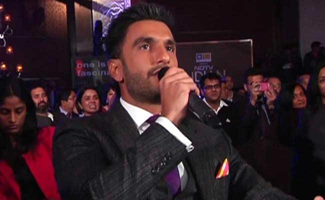 Bollywood star Ranveer Singh attented NDTV Indian of the Year awards in New Delhi on February3