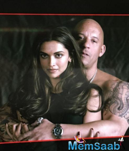 Actress Deepika, 30, has just joined the film unit of her Hollywood debut, xXx: The Return of Xander Cage, and here's the first picture of her first day on set in Toronto with her co-star.