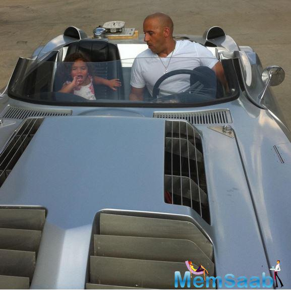 Star updates his xXx, he also confirmed the 9th and 10th instalments of the Fast and Furious series, posting a photo of himself riding in a silver car with his daughter Hania as co-passenger.