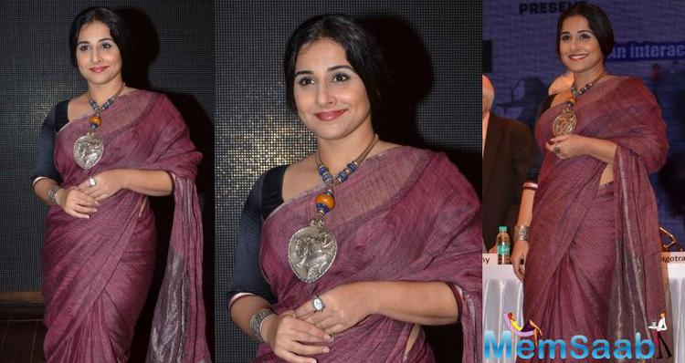 """According to Vidya Balan, """"It's important that the mindset changes. Girls should wear what they wish to wear. Her respect should not be linked to her attire."""""""