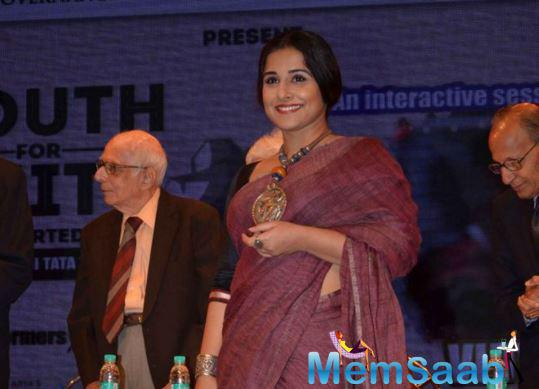 Star Vidya was awarded last year for her portrayal of 'strong women' in films.