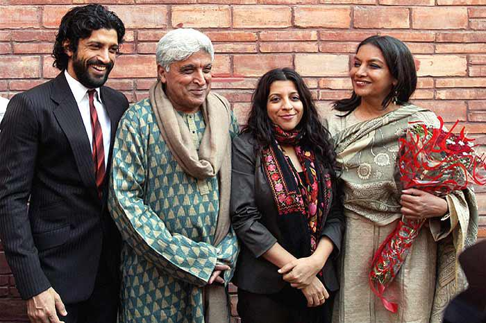 Aditi Rao Hydari was found watchinga movie at Lightbox in Santacruz with Zoya Akhtar,Shabana Azmi and Javed Akhtar