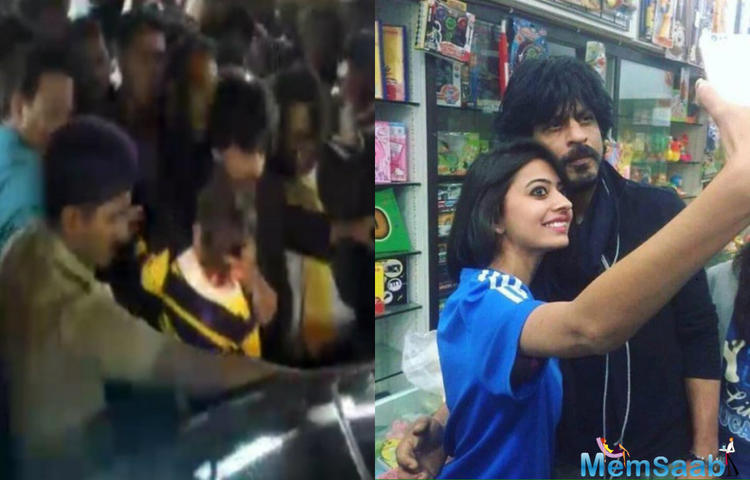 When the superstar was seen doing secret shopping for his little kid AbRam, they are getting mobbed by the crowd in Bhuj