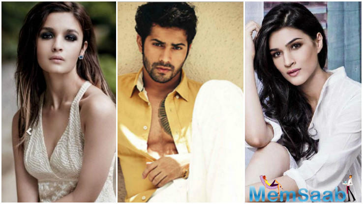 Alia Bhatt (Student of the Year, Humpty Sharma Ki Dulhania) and Kriti Sanon (Dilwale), both of whom have worked with Varun Dhawan in the past, are the first choices for the two leading ladies in Judwaa 2.