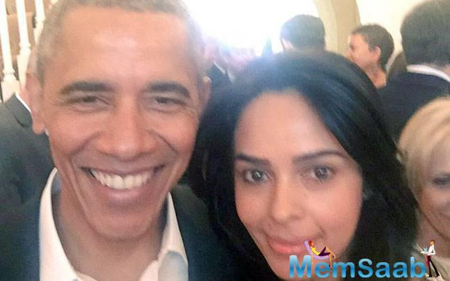 Star  Mallika, however, did not reveal where and when she met Obama this time. Sherawat has time and again posted pictures with the US President on Twitter.