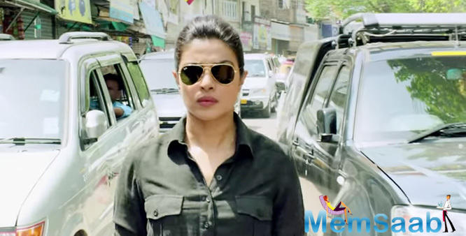 Actress Priyanka plays a fierce cop who takes on the villains with her army of policemen. Star Priyanka  who is riding high on success with her projects like Bajirao Mastani and Quantico