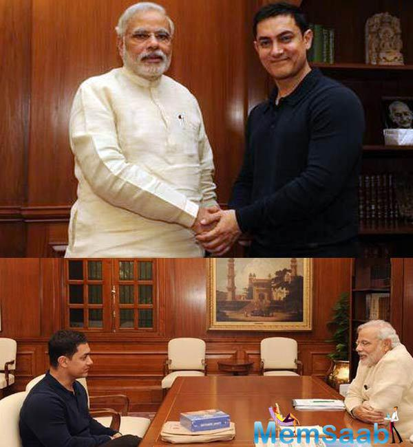 Aamir Khan also added he had great expectations from Modi and people to cooperate with the prime minister and people had also great expectations from Modi Saheb