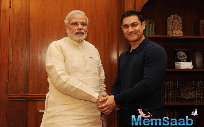Aamir Khan spotted at the Prime Minister's Office in New Delhi for a conversation and also had a dinner with him later