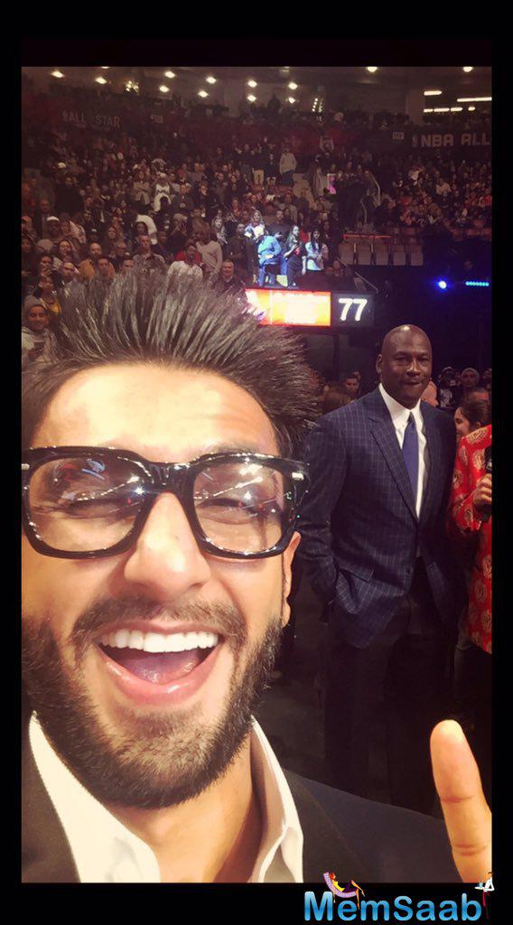 Ranveer tweeted, 'Ludacris, Ne-Yo, Nelly Furtado, Drake, and Sting ... The best musical   talents in the house tonight. It's been a fabulous experience so far guys! Thank you so much for hosting me'.