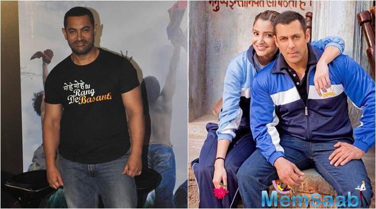 Salman plays a wrestler from Haryana in 'Sultan', also starring Aamir's 'PK' heroine Anushka Sharma. Incidentally, Aamir too plays a wrestler in his next film 'Dangal'