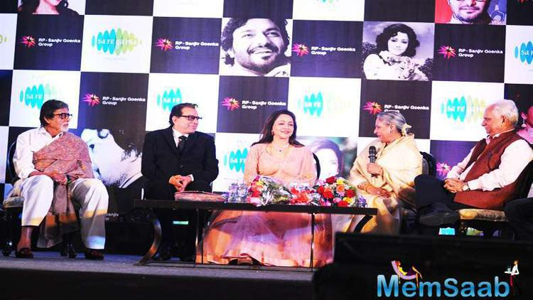 Sholay team like Amitabh, Jaya, Dharmendra and Ramesh Sippy grace Hema's debut album 'Dream Girl  launch event, which is composed by Babul Supriyo.