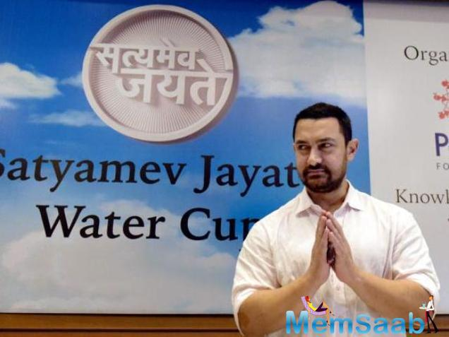 Aamir added 'We decided to work on water and Maharashtra. Water is important and Maharashtra is my birth place. I feel if we respect water, water will respect us so we all need to come together for this,