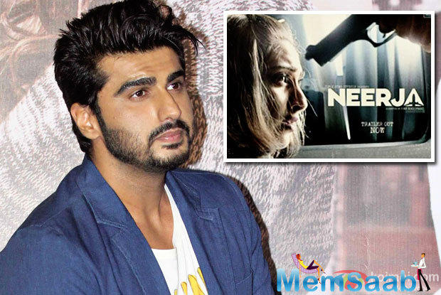 Arjun Tweeted, I am proud of you, for choosing to be part of something like 'Neerja' and I really hope people get to see how wonderfully talented you are, Love you lots and all the best.