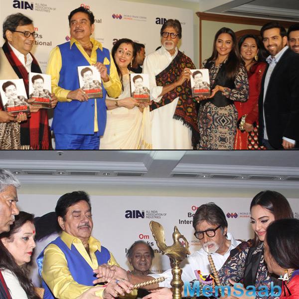 Megastar Amitabh Bachchan launched friend Shatrughan's biography anything But Khamosh' yesterday