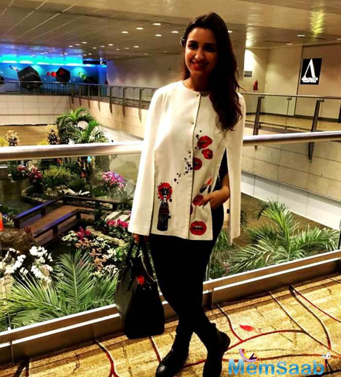 Parineeti Chopra  received blessings from her motherland before she took off for the island country.