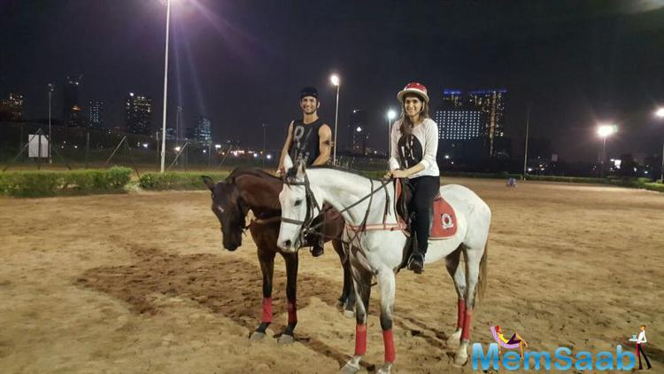 Kriti shared an image on her Twitter account where They seemed to have been enjoying a horse riding session, the duo does look great together, are you agree?