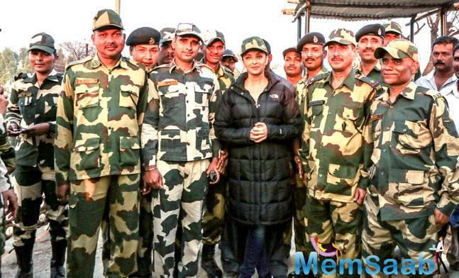 She added when the BSF jawans realised that she was shooting in a village, which is very close to the border, they expressed their desire to meet her.