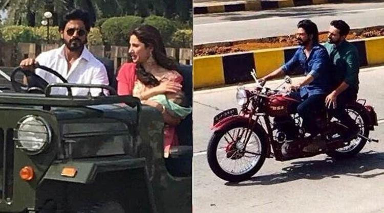 Shah Rukh Khan, along with his film's lead actress Mahira Khan, shot few scenes on the streets of Mumbai.