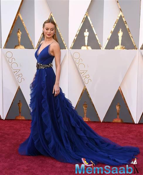 This best actress nominee, Brie Larson who recently won a Golden Globe for her lead role in