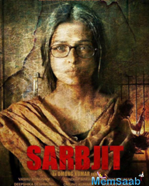 Sarbjit first look poster is released now. In it, Ash is seen in a de-glam avatar, sporting a mature look. For the uninitiated, she plays the role of Randeep's sister in Sarbjit.