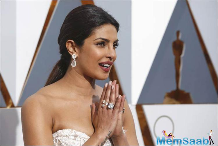 The former Miss World shared pictures and updates from the Oscars red carpet and also much earlier she left for LA on Saturday.