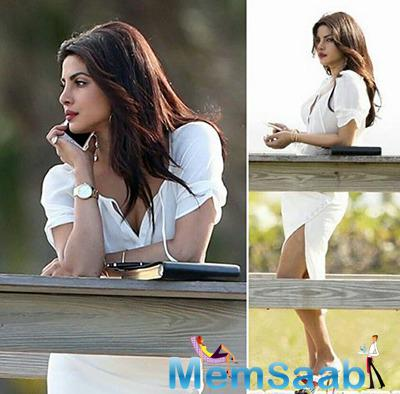 Priyanka Chopra is filming for Baywatch in Miami and here a pic where she is, her character 'Victoria Leeds' look.