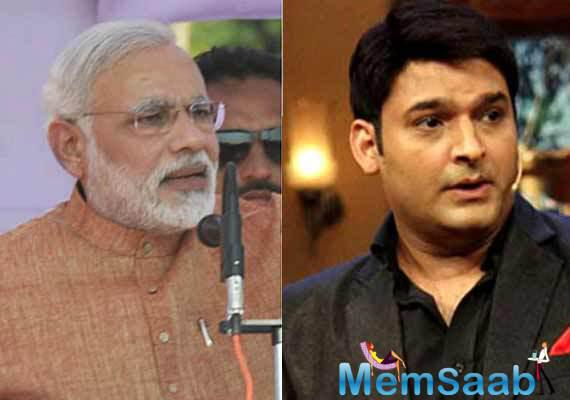 Kapil will try and talk to Mr. Modi, so that he gives a nod to be the guest on his show.