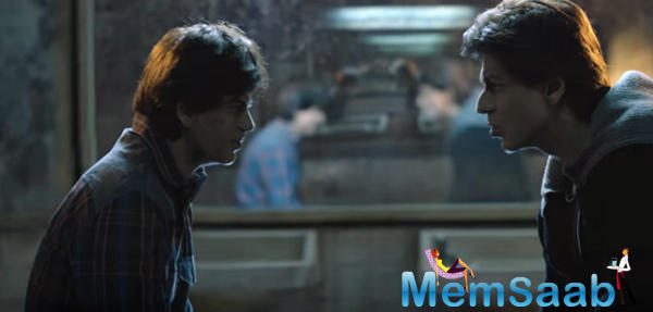 As one can gauge from the trailer, Aryan Khanna's voice is very alike to Shah Rukh voice in real life, but Gaurav's is different with a distinct accent.
