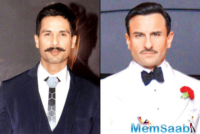 Saif makes sure if Shahid needs any cue for a particular scene, that he is given one. Yes, they do have history, but Saif never mixes his profession with his personal affairs.