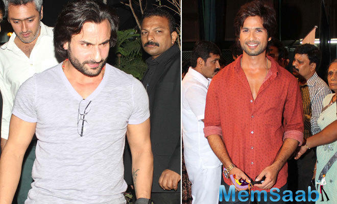 Vishal Bhardwaj directorial film Rangoon brings together the two stars Shahid Kapoor and Saif Ali Khan for the first time on screen.