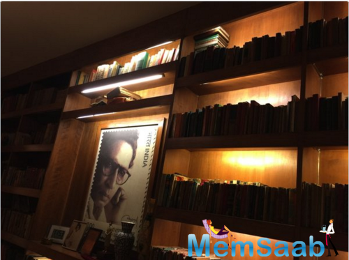 Amitabh Bachchan  shared the pictures of his father's desk, surrounded by his books.