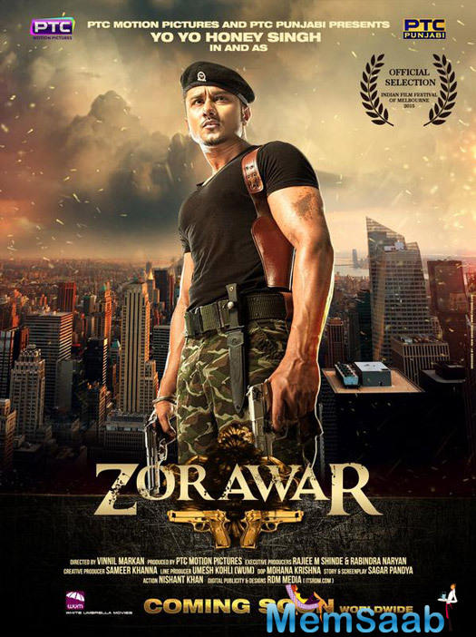Yo Yo Honey Singh plays the titular character in the film, who is a special agent in the Indian army.