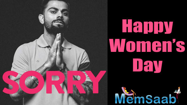 This humble gesture has come in response to the International Women's Day that's being celebrated today.