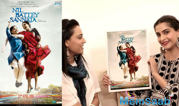 The first poster of Swara Bhaskar-starrer Nil Battey Sannata was unveiled today online by her good friend Sonam Kapoor.