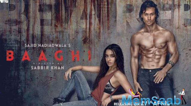 Tiger Shroff has unveiled the first poster for his forthcoming film 'Baaghi'.