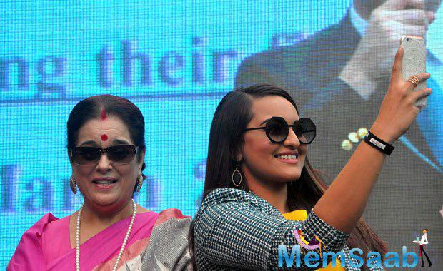 Bollywood actress Sonakshi is excited being a part of it, here a pic where she was taking a selfie.