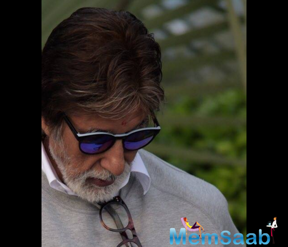 """""""There is also speculation that the look in the film that I sport is this,"""" Amitabh posted on his blog with an image in which he is seen sporting a semi-casual look."""