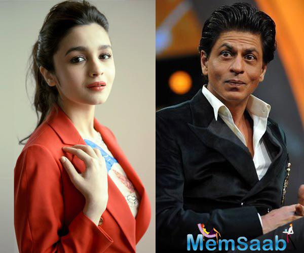 """And the actress Alia Bhatt has no doubts in declaring King Khan her most favourite co-star till date. """"He is by far my favourite co-star."""