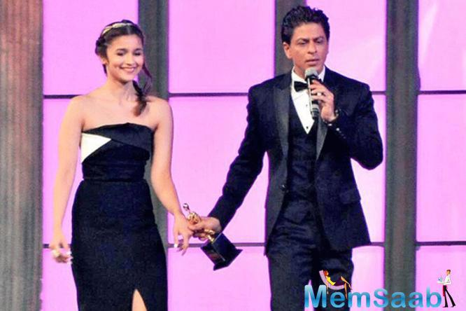 Ask Alia Bhatt about Shah Rukh and she just can't stop smiling who had earlier admitted to being nervous, today shares what she calls an easy relationship with SRK.