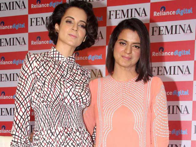 At Femina magazine launch event, Kangana said, 'she wants to make a film on her sister Rangoli's acid attack incident.