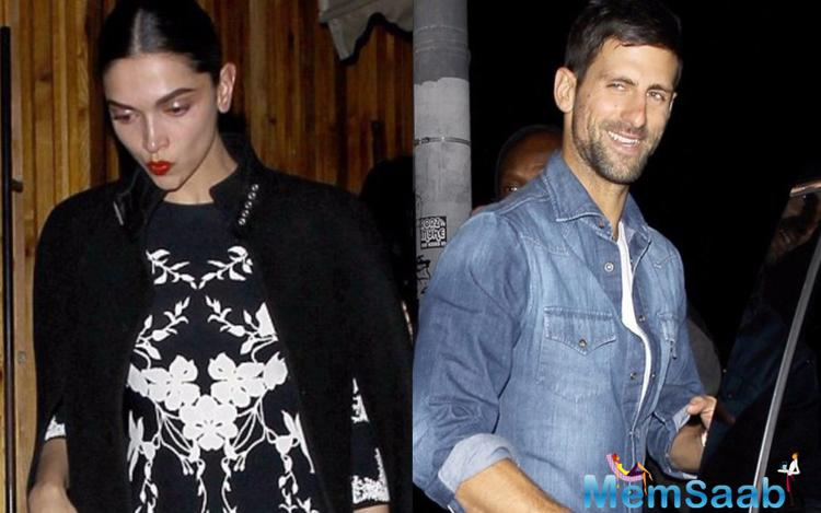 Deepika Padukone spotted having dinner with tennis star,Novak Djokovic last night in LA.