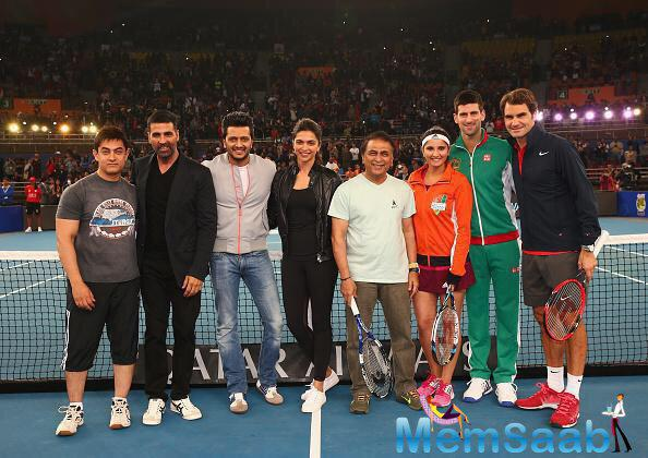 For those questioning how she knows Novak, Deepika played an exhibition tennis doubles match with him, Roger and Aamir in 2014's International Premier Tennis League tournament.