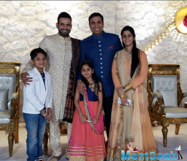 VVS Laxman attended the ceremony along with his kin. The ex-cricketer has been a mentor to Pathan over the age.
