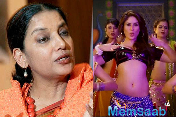 The actress Shabana expressed some serious concern over Kareena Kapoor Khan's 'Fevicol Se' from 'Dabangg 2' and criticized it heavily.