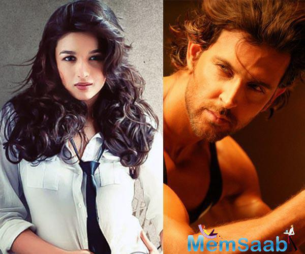 Now a news on the air that Alia to star opposite Hrithik in Aashiqui 3